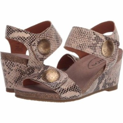 タオス Taos Footwear レディース サンダル・ミュール シューズ・靴 Carousel 2 Taupe Snake