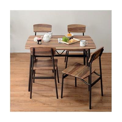 【お買い得】古木風でスタイリッシュなダイニングセット ダイニングテーブルセット, Tables(ニッセン、nissen)