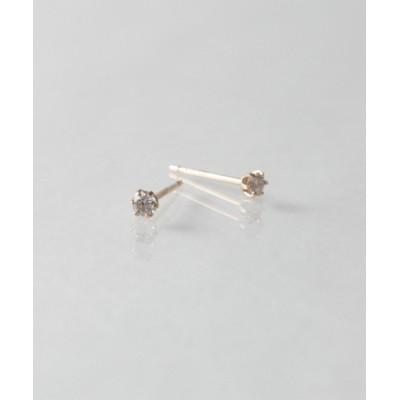 KU-CROISSANT / 【anq.】K18・0.1ctダイヤモンド スタッドピアス WOMEN アクセサリー > ピアス(両耳用)