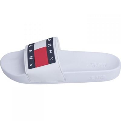 トミー ジーンズ Tommy Jeans レディース サンダル・ミュール シューズ・靴 Flag Sliders WHITE YBS