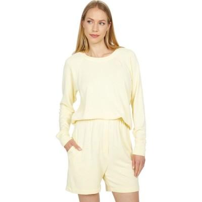 サンドリー SUNDRY レディース スウェット・トレーナー クロップド トップス Cropped Super Soft Viscose Fleece Sweatshirt Canary