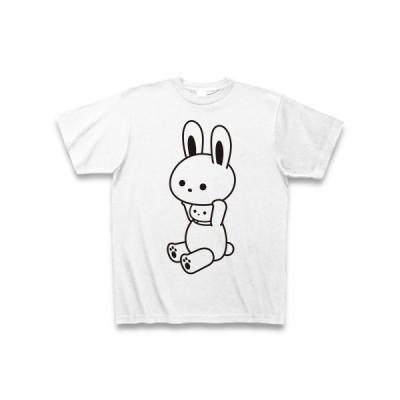 着ぐるみバイトうさぎ Tシャツ(ホワイト)