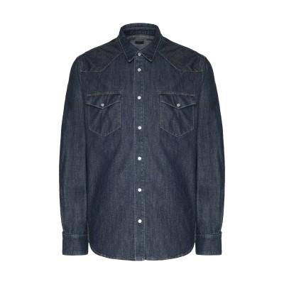8 by YOOX デニムシャツ ブルー S コットン 100% デニムシャツ