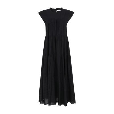 シーバイクロエ SEE BY CHLOÉ 7分丈ワンピース・ドレス ブラック 36 コットン 100% 7分丈ワンピース・ドレス