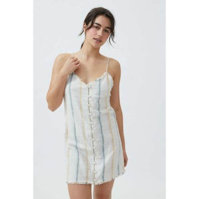 ビラボン Billabong レディース ワンピース ミニ丈 ワンピース・ドレス Sunny Stripes Mini Dress White Multi