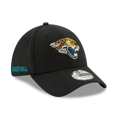 ユニセックス スポーツリーグ フットボール Jacksonville Jaguars New Era 2020 NFL Draft Official 39THIRTY Flex Hat - Black 帽子