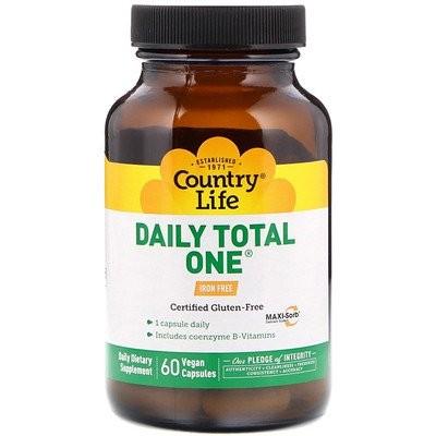 デイリートータルワン(Daily Total One), 鉄分フリー, 60粒(ベジタリアンカプセル)