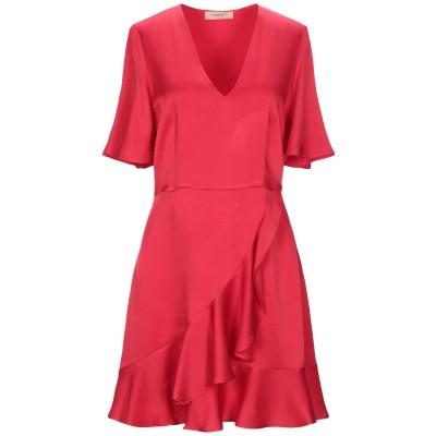 ツインセット シモーナ バルビエリ TWINSET ミニワンピース&ドレス レッド 42 アセテート 71% / レーヨン 29% ミニワンピース&