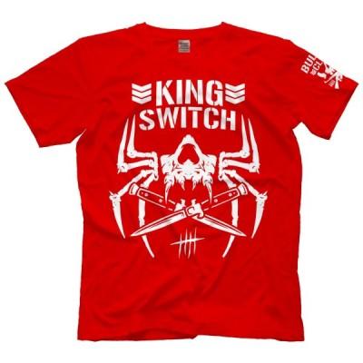 """ジェイ・ホワイト 米直輸入 海外限定版 Tシャツ「""""SWITCHBLADE"""" JAY WHITE King Switch BC(レッド)Tシャツ」アメリカ直輸入日本未発売Tシャツ"""
