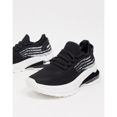 エイソス レディース スニーカー シューズ ASOS DESIGN Driven chunky lace-up sneakers in black