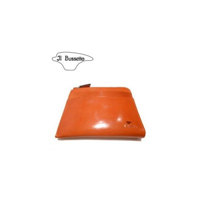イル・ブセット IL Bussetto 財布 L字型ジップ財布 オレンジ イタリアンレザー/本革 JAN: 4938540210824(送料無料) [T]