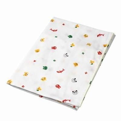 イサム商会 綿100% 日本製 ガーゼバスタオル アニマル柄 65cm×110cm