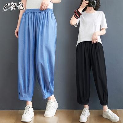 初色  休閒牛仔哈倫褲-共2色-(M-2XL可選)