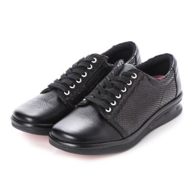 エーオーケー A-OK 【A-OK】アニマル型押しコンビのスポーツ靴(黒)