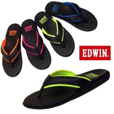 エドウィン EDWIN 8021 ブラック トング サンダル 高反発インソール メンズ