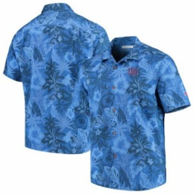 Tommy Bahama トミー バハマ シャツ ポロシャツ Tommy Bahama New York Giants Royal Fuego Floral Woven Button-Up Shirt