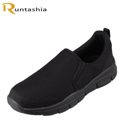 ランタシア RUNTASHIA RT-7124 メンズ   スポーツシューズ   軽量 軽い   屈曲性   お買得   ブラック