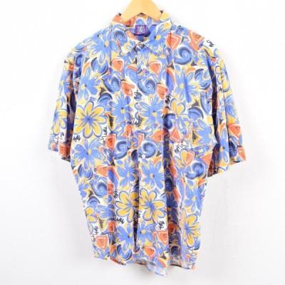 PRO SPIRIT 総柄 半袖 コットンシャツ メンズL /wbg2616