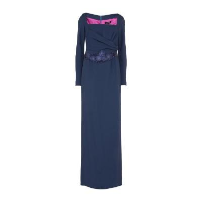 IVAN MONTESI ロングワンピース&ドレス ダークブルー 38 アセテート 50% / レーヨン 50% ロングワンピース&ドレス