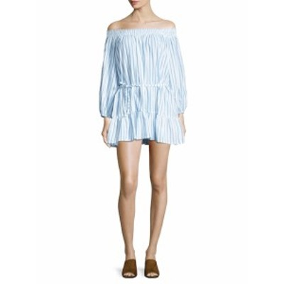 ファイスフル レディース ワンピース Milos Cotton Striped Mini Dress