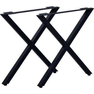 エイ・アイ・エス テーブルキッツ用 テーブル脚 X型 幅630×奥行85×高さ670mm ブラック TBK-X BK 1セット(直送品)