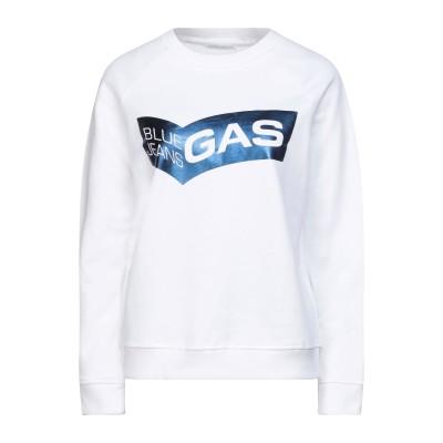 GAS スウェットシャツ ホワイト XXS コットン 100% / ポリウレタン スウェットシャツ