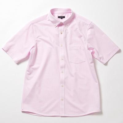 [プラステxJALショッピング]オリジナルコンフォートジャージー半袖シャツ ホワイト M メンズ アウター/トップス ピンク XL