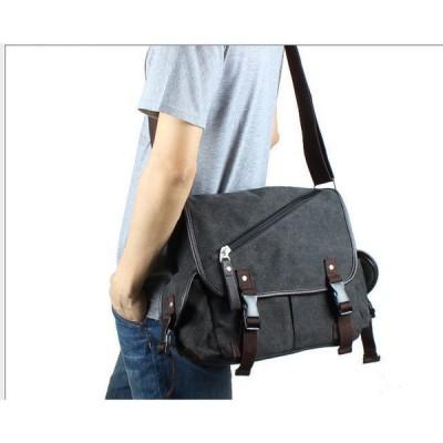 ビジネスバッグ ショルダーバッグ メンズ 布製 ナイロン シンプル 撥水 通勤 通学 多収納 仕事用 無地 通勤バッグ キャンバス 帆布