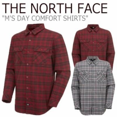 ノースフェイス シャツ THE NORTH FACE M'S DAY COMFORT SHIRTS デー コンフォートシャツ GRAY グレー RED レッド NH8LK51A/B ウェア