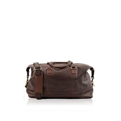 Lakeland Leather Keswick Real Leather Weekend and Overnight Holdall Duffle Bag in Brown 並行輸入品