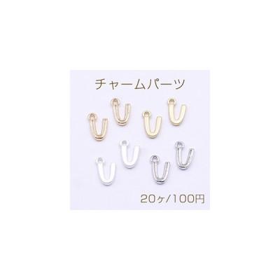 チャームパーツ ミニチャーム アルファベットV 1カン 8×13mm【20ヶ】