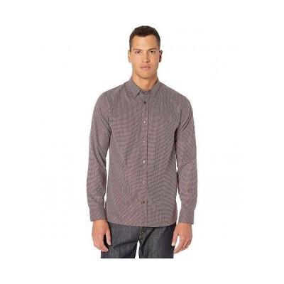 Ted Baker テッドベイカー メンズ 男性用 ファッション ボタンシャツ Velos Long Sleeve Textured Shirt - Red