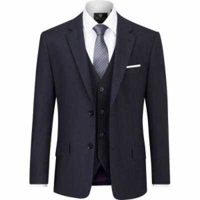 スコープス Skopes メンズ スーツ・ジャケット アウター Darwin Tailored Wool Blend Suit Jacket Navy