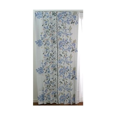 スミノエ 遮光カーテン アルベロ 100×135cm ブルー 1枚入 V1286