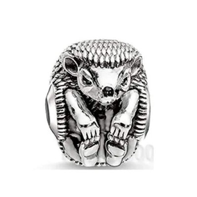 EVESCITY Cute Hedgehog Silver Bead For Charms Bracelets - Best Jewelry Gifts for Her Animal Lovers