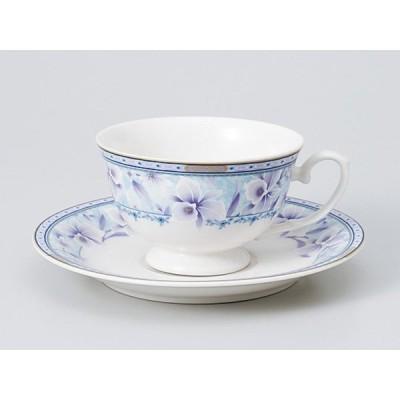 コーヒーカップ ソーサー/ ブルーブーケ兼用C/S /碗皿 業務用 ホテル レストラン おしゃれ