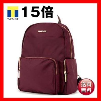 PRIMA CLASSE プリマクラッセ 19H-1204 軽量ポリ素材ポケット付ユニセックスリュック ワイン)