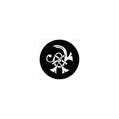 家紋シール 立花宗茂 祇園守(柳川守) 直径4cm 丸型 白紋 4枚セット KS44M-3243-01W
