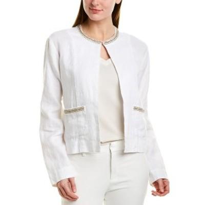 トッミーバハマ レディース ジャケット&ブルゾン アウター Tommy Bahama Linen Jacket white