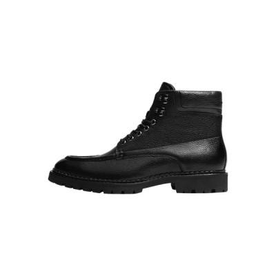 マッシモ ドゥッティ ブーツ&レインブーツ メンズ シューズ Lace-up ankle boots - black
