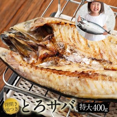 さらに 期間限定1580円→999円 塩サバ背開き頭付き 塩サバ開き (1枚 / 400g) サバ さば 鯖 海産物 海鮮 食べ物 焼くだけ