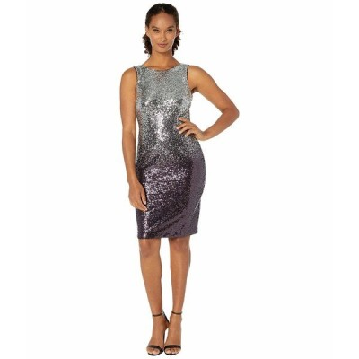 カルバンクライン ワンピース トップス レディース Sequin Sheath Dress Silver/Aubergine