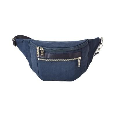 【カバンのセレクション】 アッソブ ウエストバッグ ファニーパック メンズ レディース ブランド ミニ 小さめ 横型 AS2OV SHRINK NYLON 091705 ユニセックス ネイビー フリー Bag&Luggage SELECTION