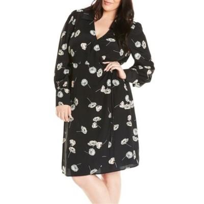 エステール レディース ワンピース トップス Poppy Floral Surplice Neck Dress (Plus Size) PRINT