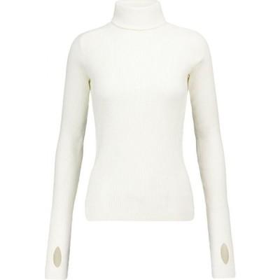 リーボック Reebok x Victoria Beckham レディース ニット・セーター トップス Ribbed-knit cotton-blend sweater Alabaster