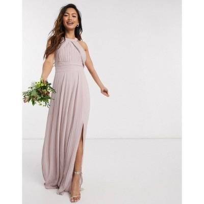 ティエフエヌシー レディース ワンピース トップス TFNC bridesmaid exclusive pleated maxi dress in pink Pink