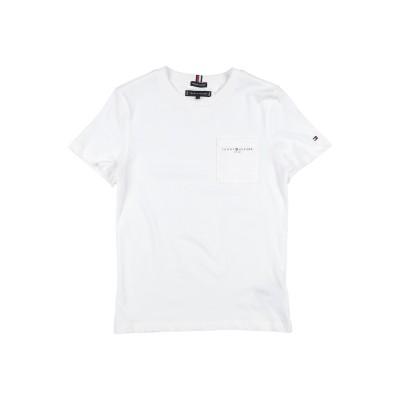 YOOX - トミーヒルフィガー TOMMY HILFIGER T シャツ ホワイト 10 オーガニックコットン 100% T シャツ