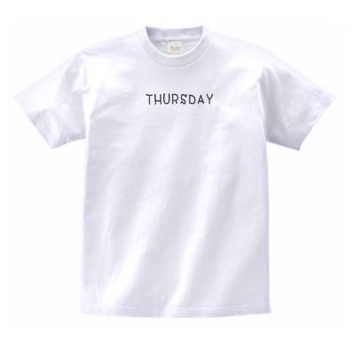 THURSDAY 文字 Tシャツ