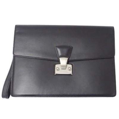 カルティエ Cartier パシャ セカンドバッグ クラッチバッグ メンズ レザー ブラック L1000230