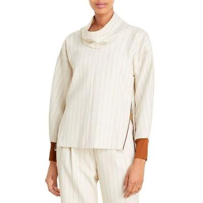 スリーワンフィリップリム レディース ニット・セーター アウター Striped Cowlneck Pullover Sweater